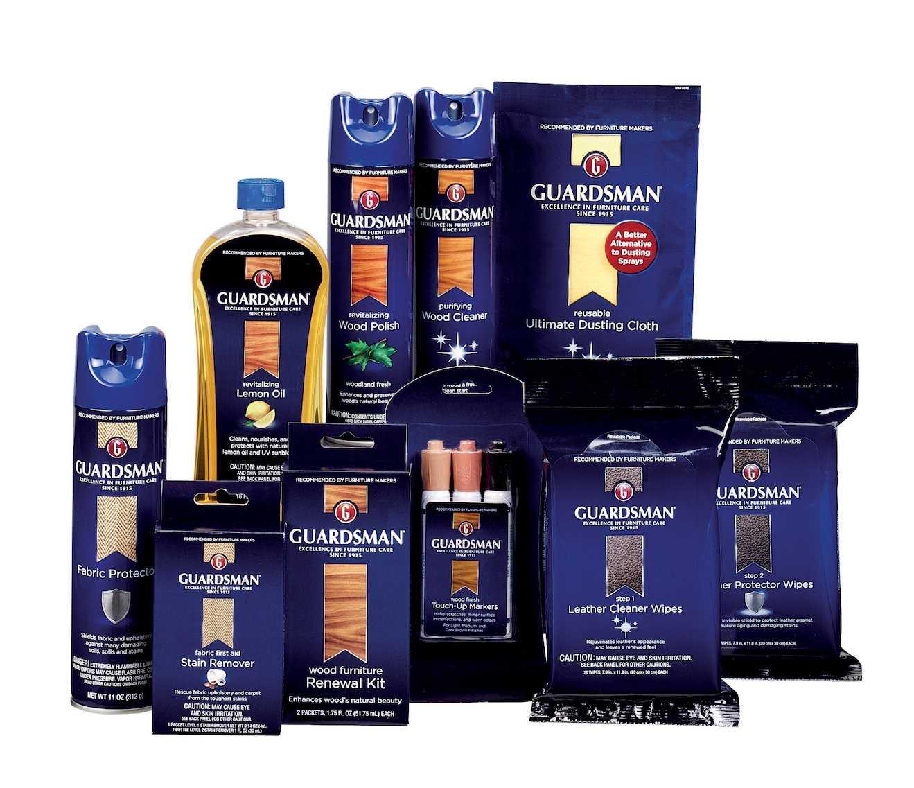 ofrecemos productos guardsman y soil shield para proteccion y limpieza de mueble